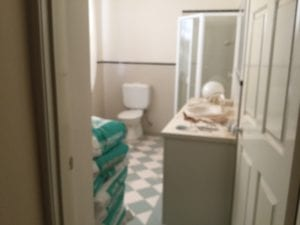 Joyce St before shower room